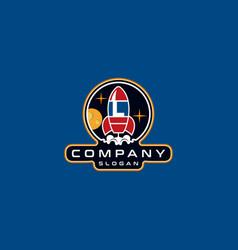 Letter l rocket logo design vector