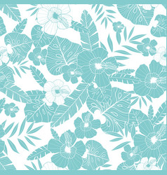light blue drawing tropical summer hawaiian vector image