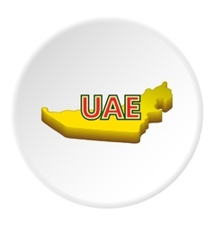 Map of UAE icon cartoon style vector image