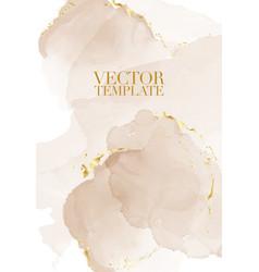 Marble rustic beige card wedding invitation card vector