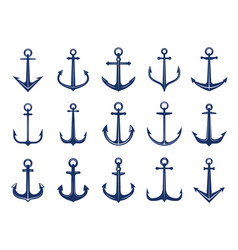 marine anchor icons designs navy symbols vector image