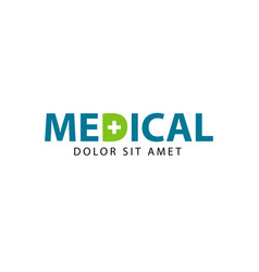 Medical logo template design vector