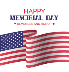 2a9fcbe03105 Memorial day greeting card with usa flag vector ...