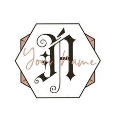 monogram logo designs classic - n vector image