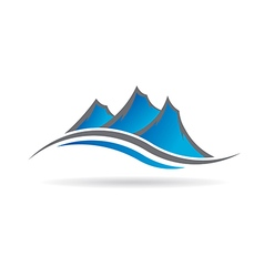 Mountains logo image vector image vector image
