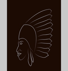 Native american portrait vector