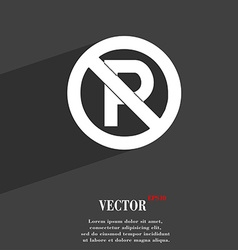 No parking icon symbol Flat modern web design with vector image