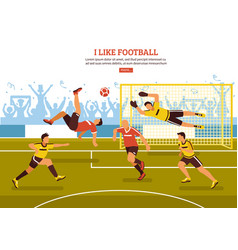 On soccer pitch background vector