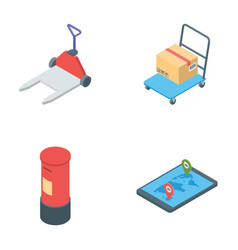 Pack of logistics delivery icons vector