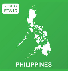Philippines map icon business concept philippines vector