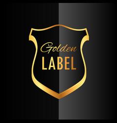 premium golden badge label symbol design vector image