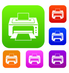 printer set collection vector image