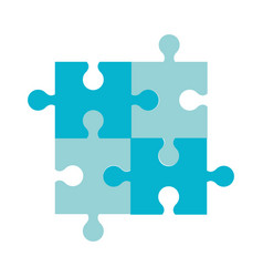 puzzle jigsaw team piece icon vector image