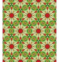 Seamless decorative color retro pattern vector image