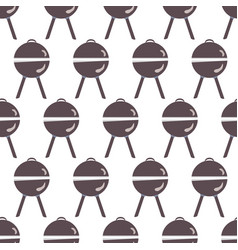 seamless pattern with grill vector image