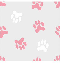 Seamless pattern with turned traces of animals vector