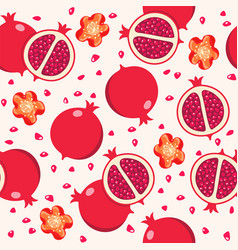 seamless pomegranate background pattern vector image