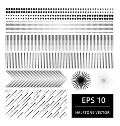 set abstract halftone element vector image
