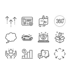 Set technology icons such as journey path 360 vector