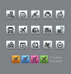 Shipping and tracking icons - satinbox series vector