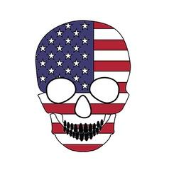 Skull flag vector image
