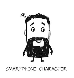 Smartphone character sketch for your design vector