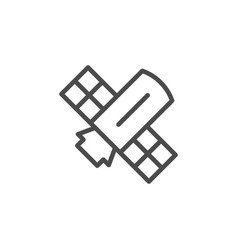 Space satellite line outline icon vector
