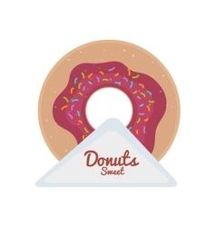 sweet donut dessert vector image