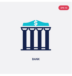 two color bank icon from education concept vector image