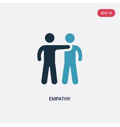 Two color empathy icon from people skills concept vector
