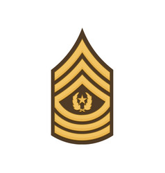 Us forces sma sergeant major army insignia icon vector
