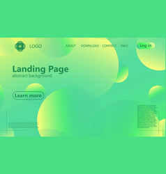 Website landing page geometric minimal design vector