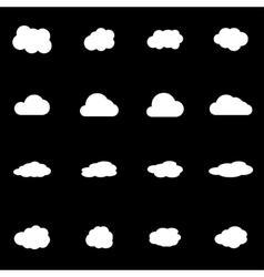 white cloud icon set vector image