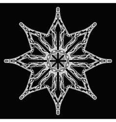 White star handdrawn pattern on black vector