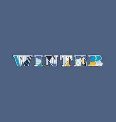 Winter concept word art vector