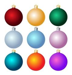 Christmas balls Christmas decorations vector image