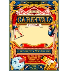 circus carnival vintage vector image vector image