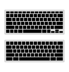 Computer Keyboard Blank Template Set vector image vector image