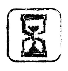 contour symbol hourglass icon vector image vector image