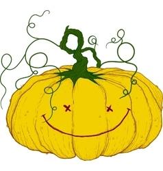 large festive pumpkin vector image vector image