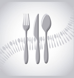 menu restaurant with cutlery set vector image