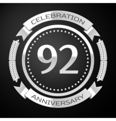 Ninety two years anniversary celebration with vector image vector image