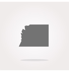 white paper on web button icon isolated on vector image vector image