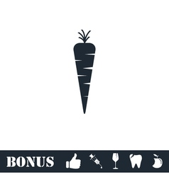 Carrot icon flat vector image vector image