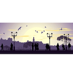 Evening meetings vector image