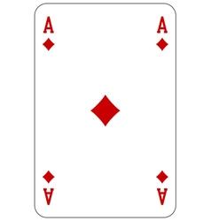 Poker playing card Ace diamond vector image vector image