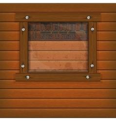 restaurant menu wooden frame and glass vector image