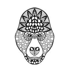 Zentangle stylized gorilla head Sketch for tattoo vector image vector image