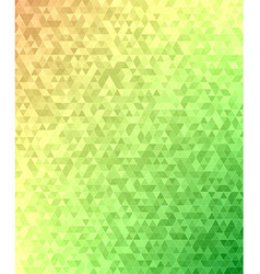 Abstract triangle mosaic transition background vector image vector image