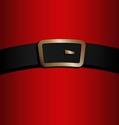 coat and belt of Santa Claus vector image vector image